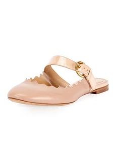 Lauren Flat Leather Mary Jane Slide