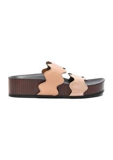 Chloe Lauren Leather & Suede Sandals