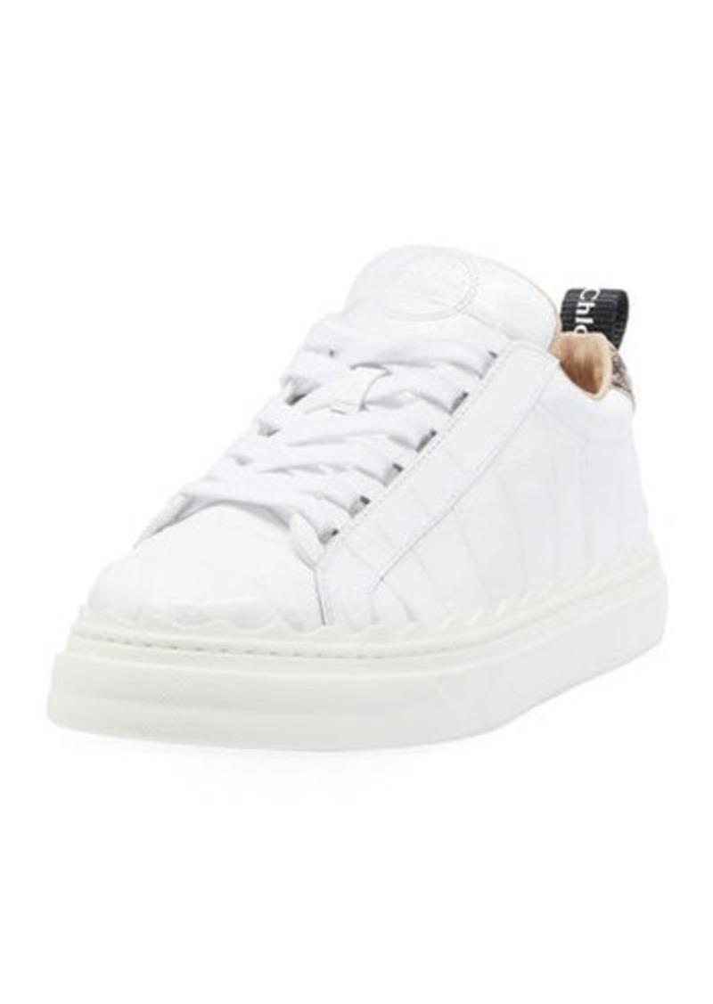 Chloé Chloe Lauren Low-Top Leather Sneakers