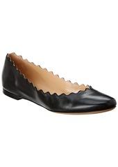 Chloé Chloe Lauren Scalloped Leather Ballerina Flat