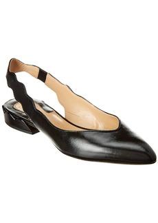 Chloé Chloe Laurena Leather Slingback Ballerina Flat