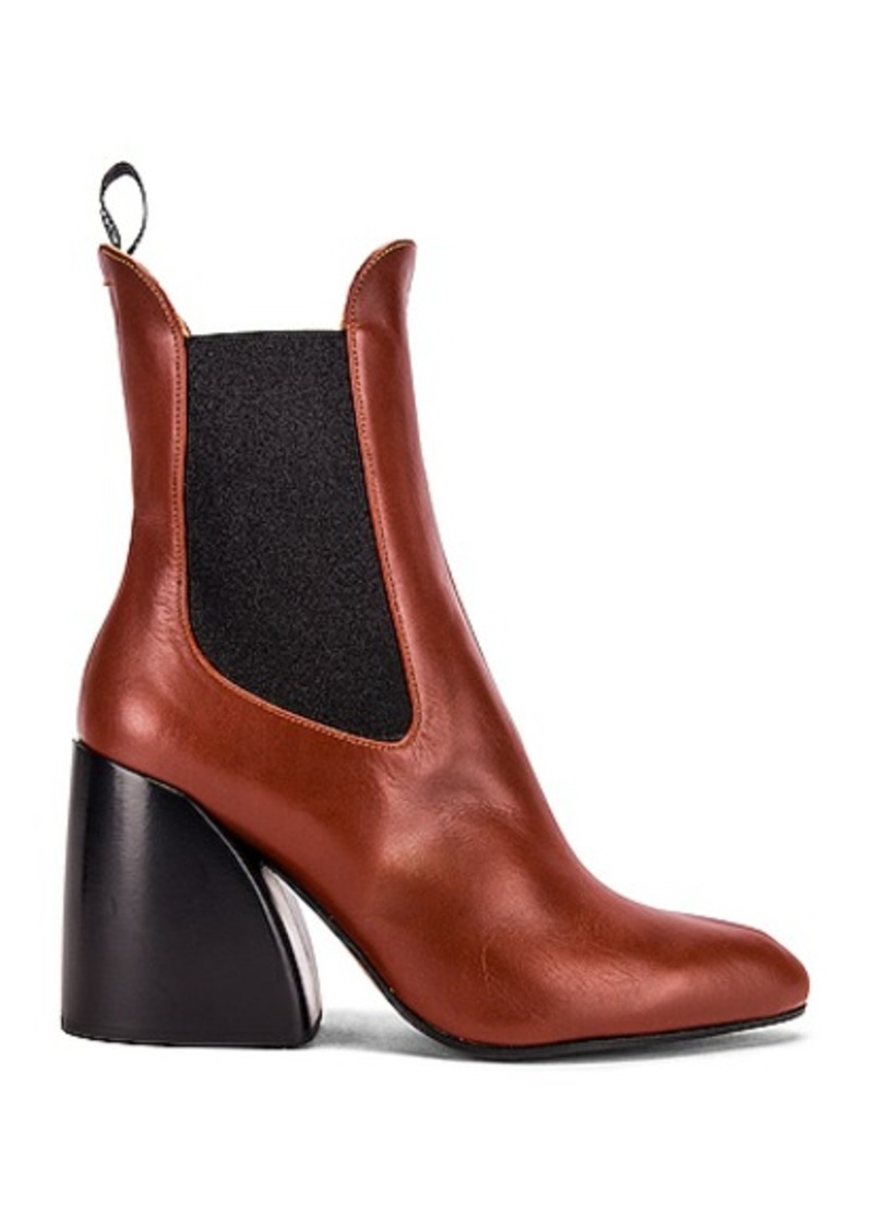Chloé Chloe Leather Ankle Booties