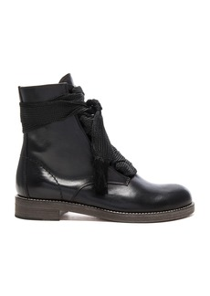Chloe Leather Harper Lace Up Boots