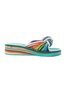 Chloe Leather Knot Sandals