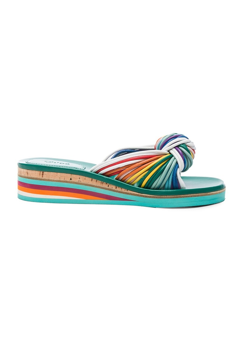 Chloé Chloe Leather Knot Sandals