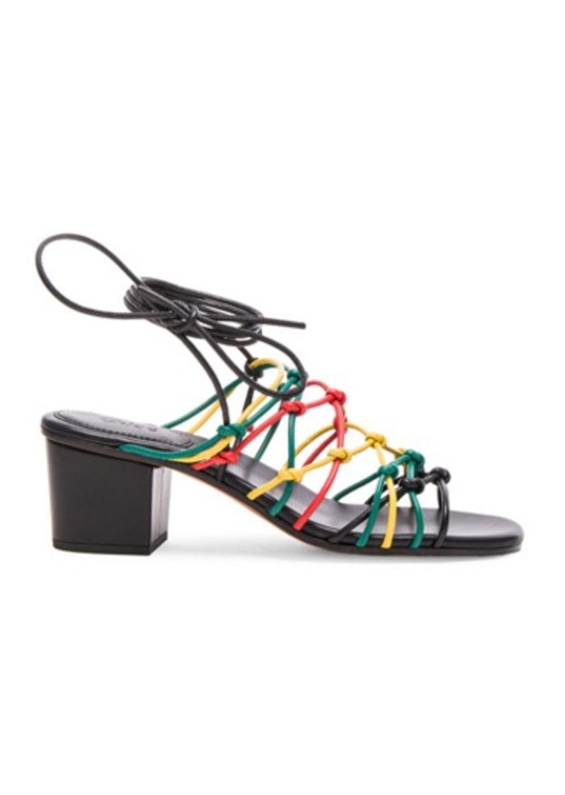 Chloé Chloe Leather Net Heels