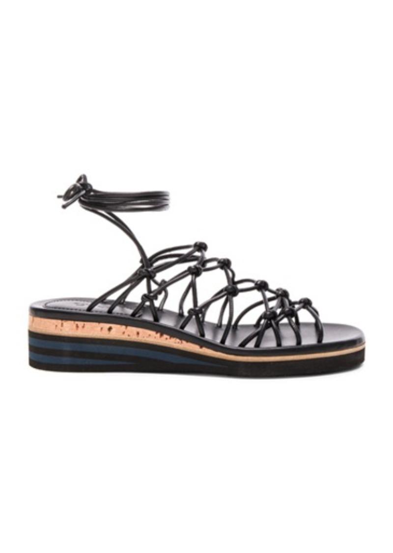 Chloé Chloe Leather Net Sandals