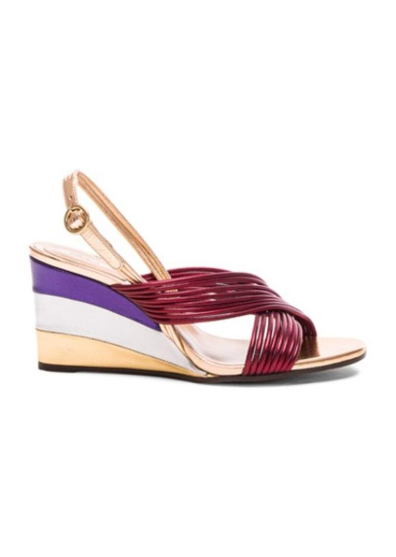 Chloé Chloe Leather Rainbow Sandals