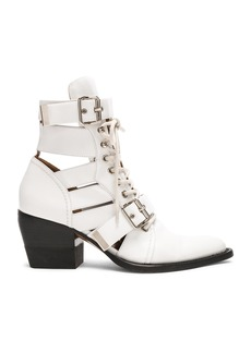Chloe Leather Rylee Lace Up Buckle Boots