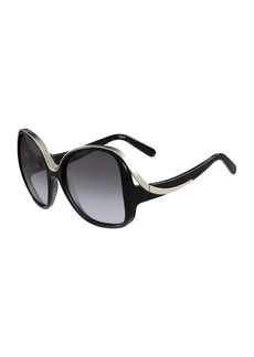 Chloé Chloe Mandy Square Acetate Sunglasses
