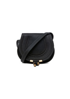 Chloé Chloe Small Marcie Grained Calfskin Saddle Bag