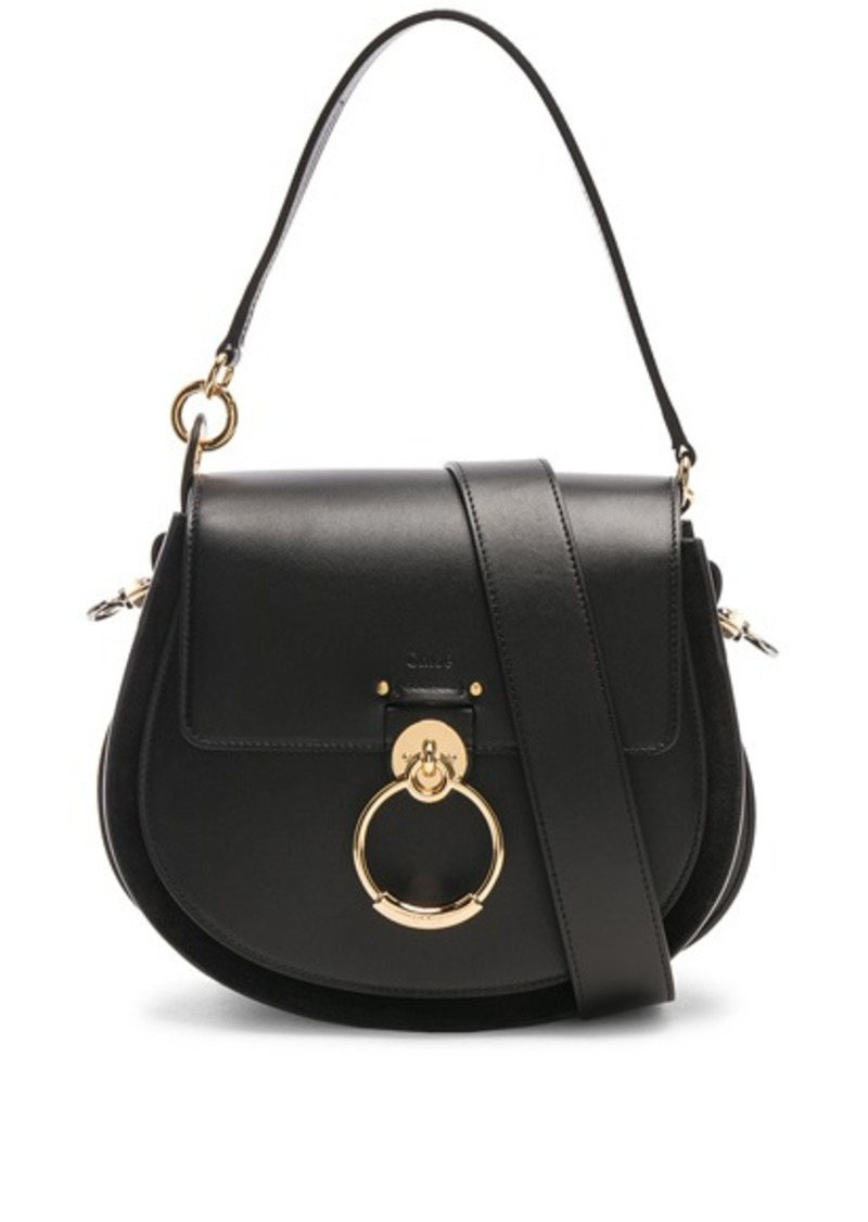 Chloé Chloe Medium Tess Shiny Calfskin Shoulder Bag