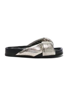 Chloe Metallic Leather Nolan Slides