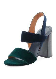 Chloe Mia Colorblock Velvet Sandal