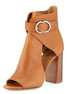 Chloé Chloe Millie Open-Toe Leather Bootie