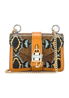 Chloé Chloe Mini Aby Chain Embossed Python Shoulder Bag