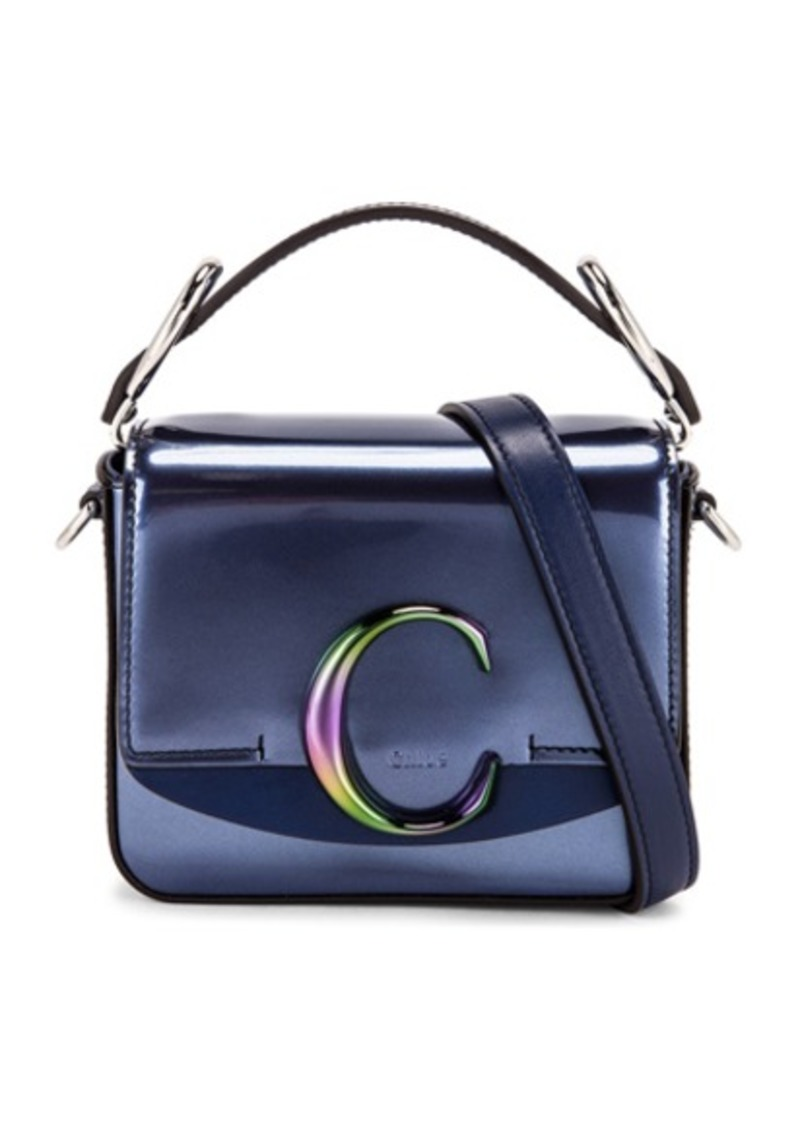 Chloé Chloe Mini C Iridescent Box Bag