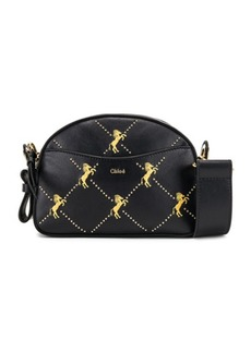 Chloé Chloe Mini Signature Embroidered Leather Bag
