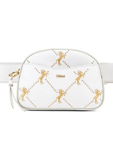 Chloé Chloe Signature Embroidered Leather Belt Bag