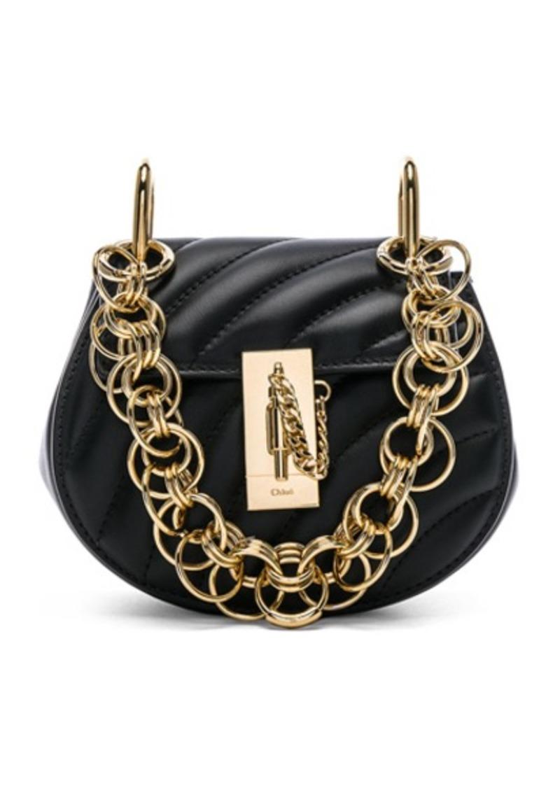 402f4e60f5 Chloé Chloe Nano Drew Bijou Quilted Smooth Calfskin Shoulder Bag ...