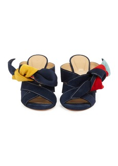 Chloé Chloe Nellie Knotted Suede Mule Sandal
