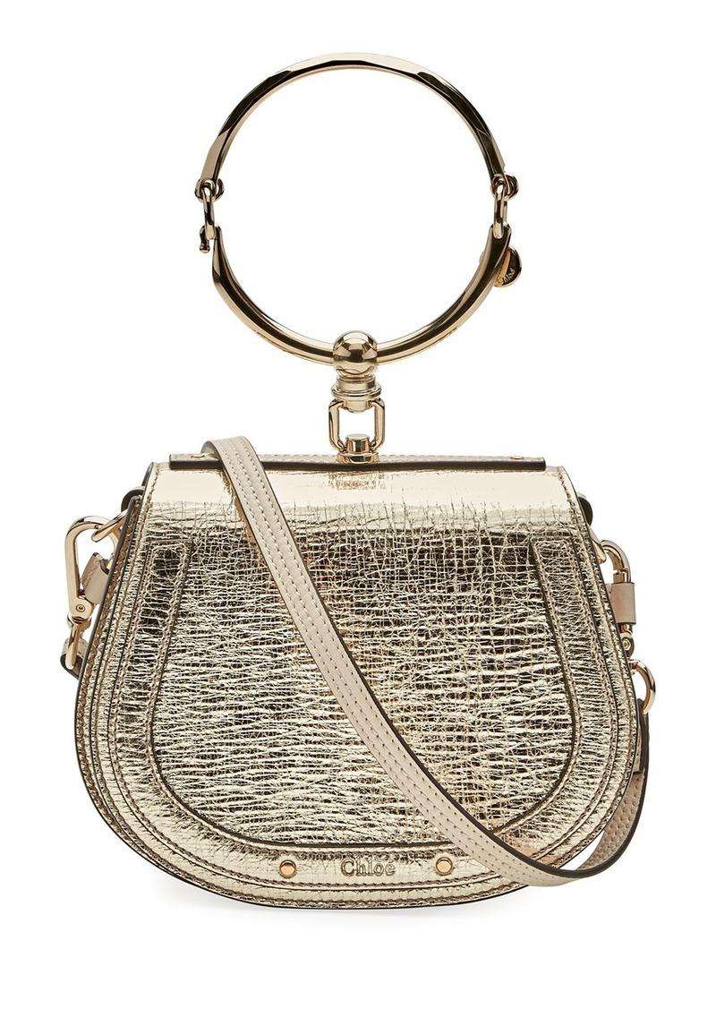fa683c0ab52 Chloé Nile Small Metallic Leather Bracelet Bag