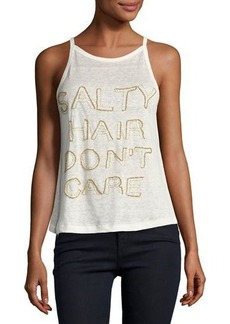 Chloé Chloe Oliver Salty Hair Don't Care Linen Tank