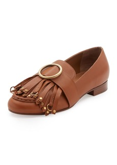 Chloé Chloe Olly Leather Kiltie Loafer