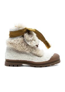 Chloe Parker Shearling Hiking Boots