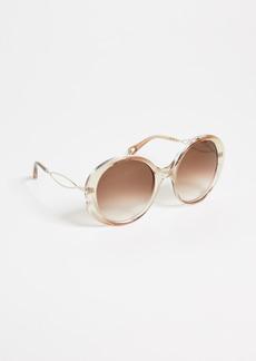Chloé Chloe Petal Round Sunglasses