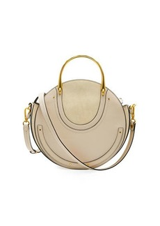 Chloé Chloe Pixie Small Round Double-Handle Tote Bag