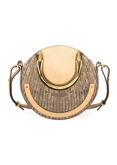Chloé Chloe Pixie Small Sequined Round Shoulder Bag