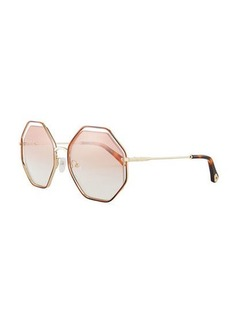 Chloé Chloe Poppy Geometric Sunglasses