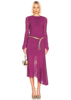 Chloé Chloe Rib Open Back Knit Dress
