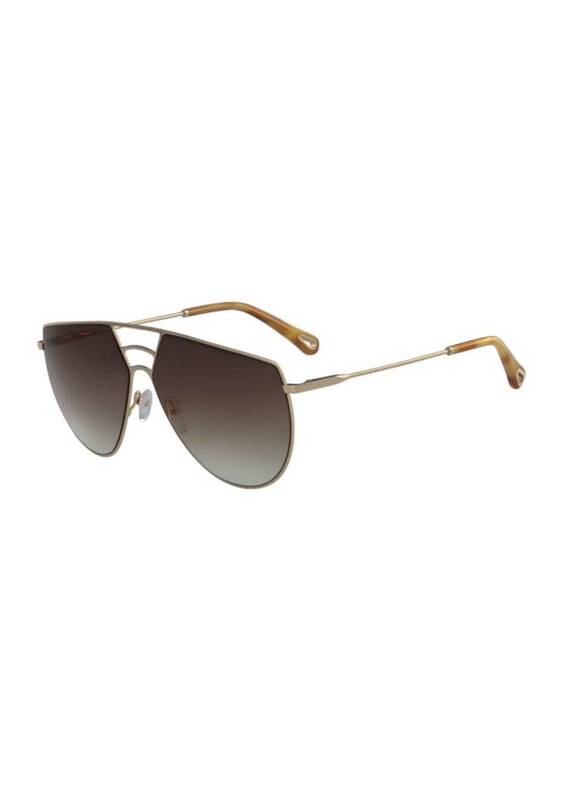 52ccf4e01621 Chloé Chloe Ricky Triple Bridge Aviator Sunglasses