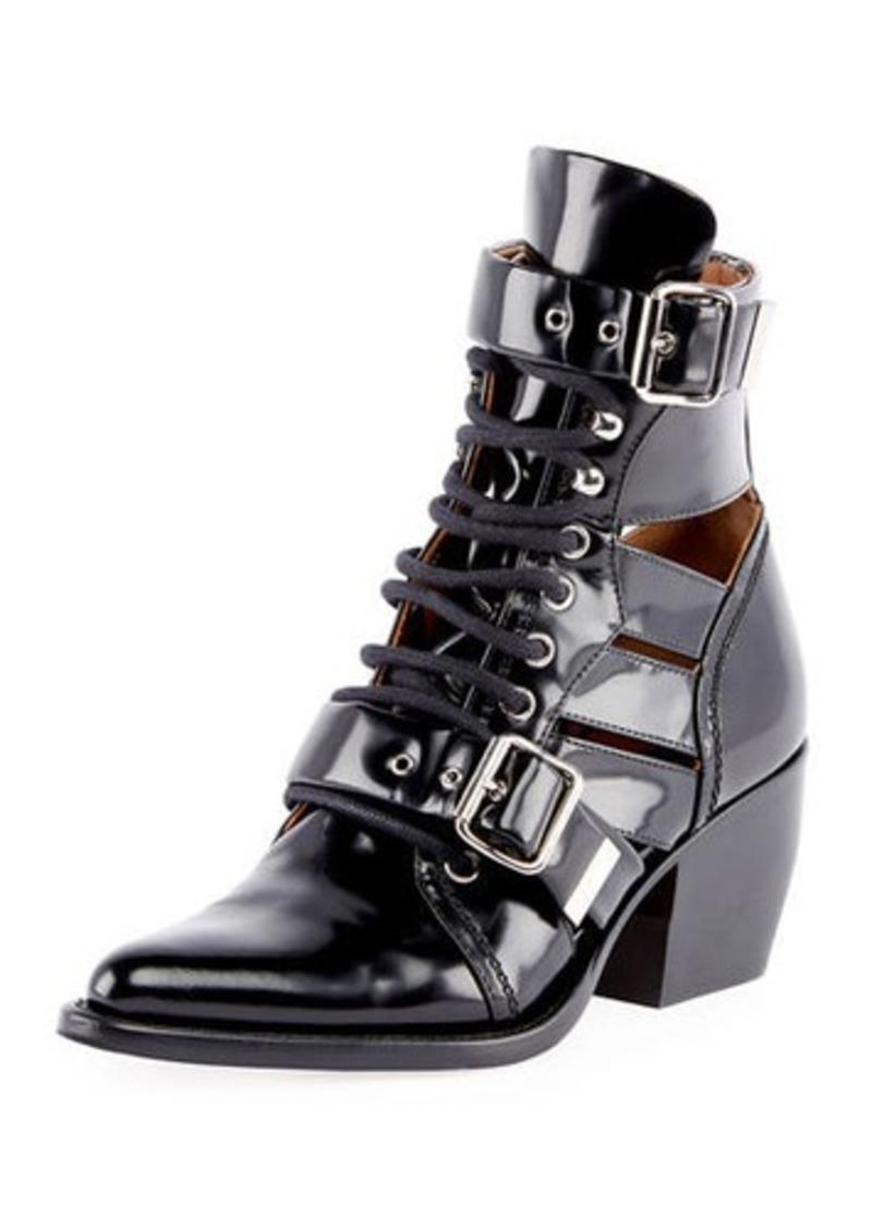 Chloé Chloe Riley Lace-Up Box Calf Boot