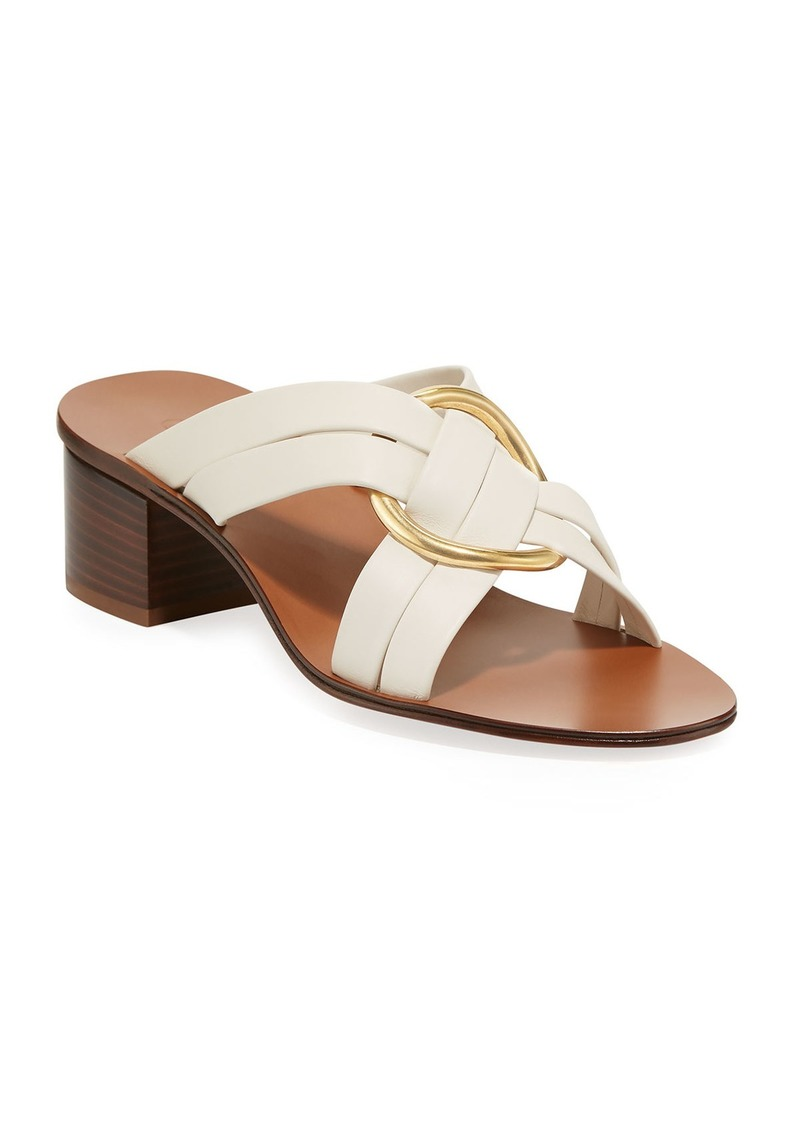 Chloé Chloe Rony Strappy Sandal with Gold Ring