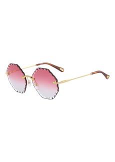 f92b9c8eb632 Chloé Chloe Rosie Rimless Scalloped Sunglasses