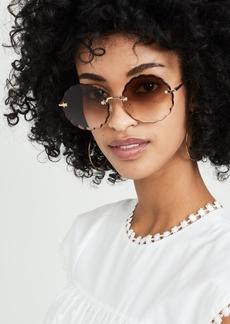 Chloé Chloe Rosie Scalloped Sunglasses