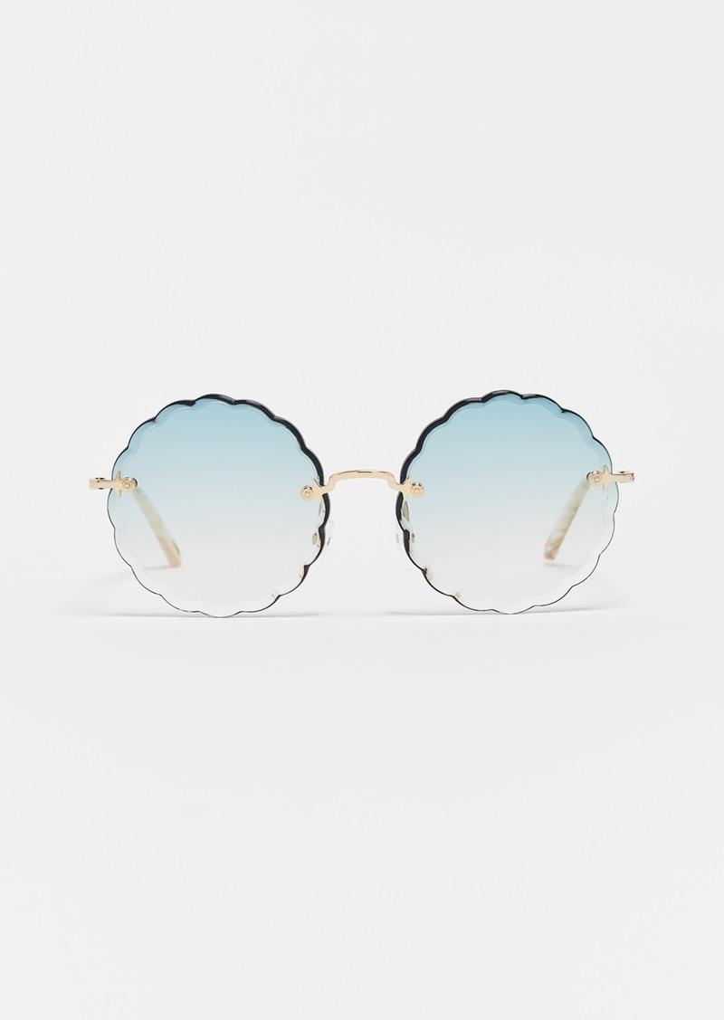 b5ca0a12792 Chloé Chloe Rosie Scalloped Sunglasses
