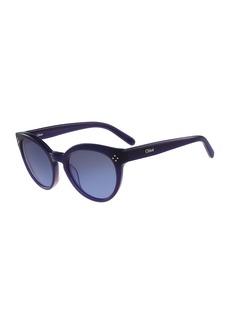 Chloé Chloe Round Cat-Eye Sunglasses