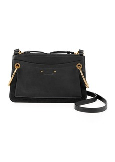 9eb5b309138d Chloé Roy Convertible Two-tone Suede And Leather Shoulder Bag