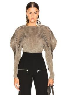 Chloé Chloe Ruffle Trim Ribbed Sweater