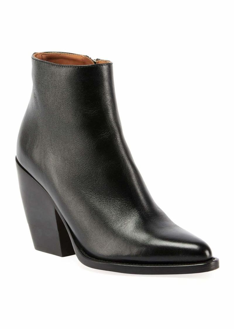 Chloé Chloe Rylee 90MM Block Heel Western Booties