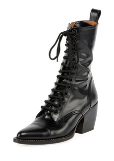 Chloé Chloe Rylee 90MM High Lace Up Buckle Boot