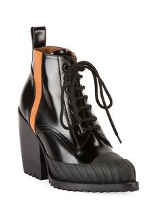 Chloé Chloe Rylee Block-Heel Lace-Up Combat Boots