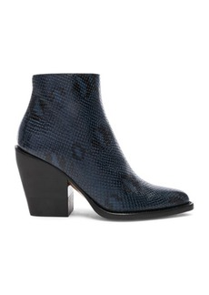 Chloé Chloe Rylee Python Print Leather Ankle Boots