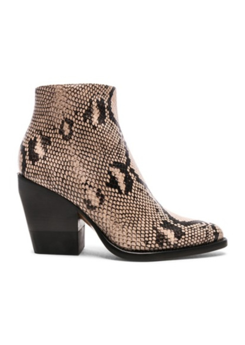 Chloe Python Print Ankle Boots