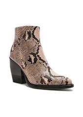 Chloé Chloe Python Print Ankle Boots