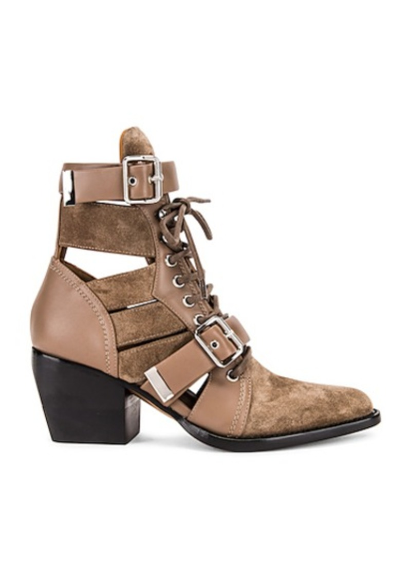 Chloé Chloe Lace Up Buckle Boots